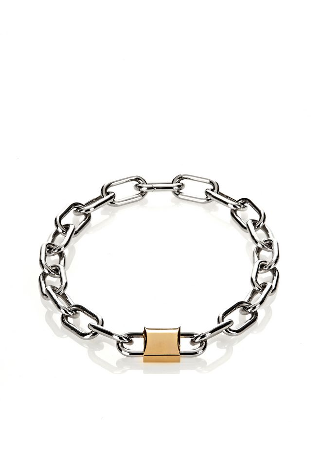 ALEXANDER WANG womens-classics DOUBLE LOCK NECKLACE