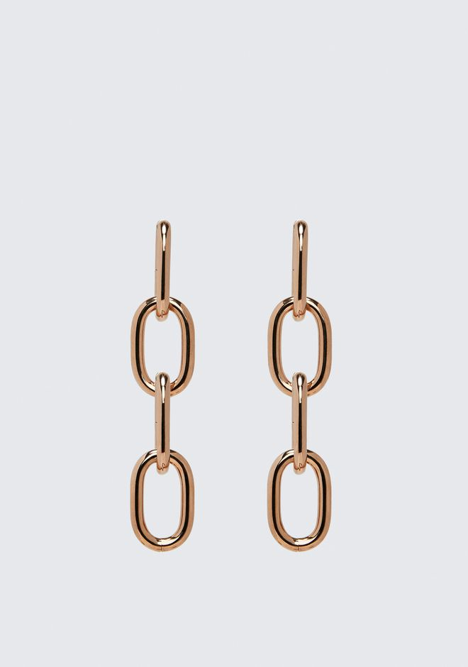 ALEXANDER WANG womens-classics FOUR-LINK CHAIN EARRINGS IN ROSE GOLD