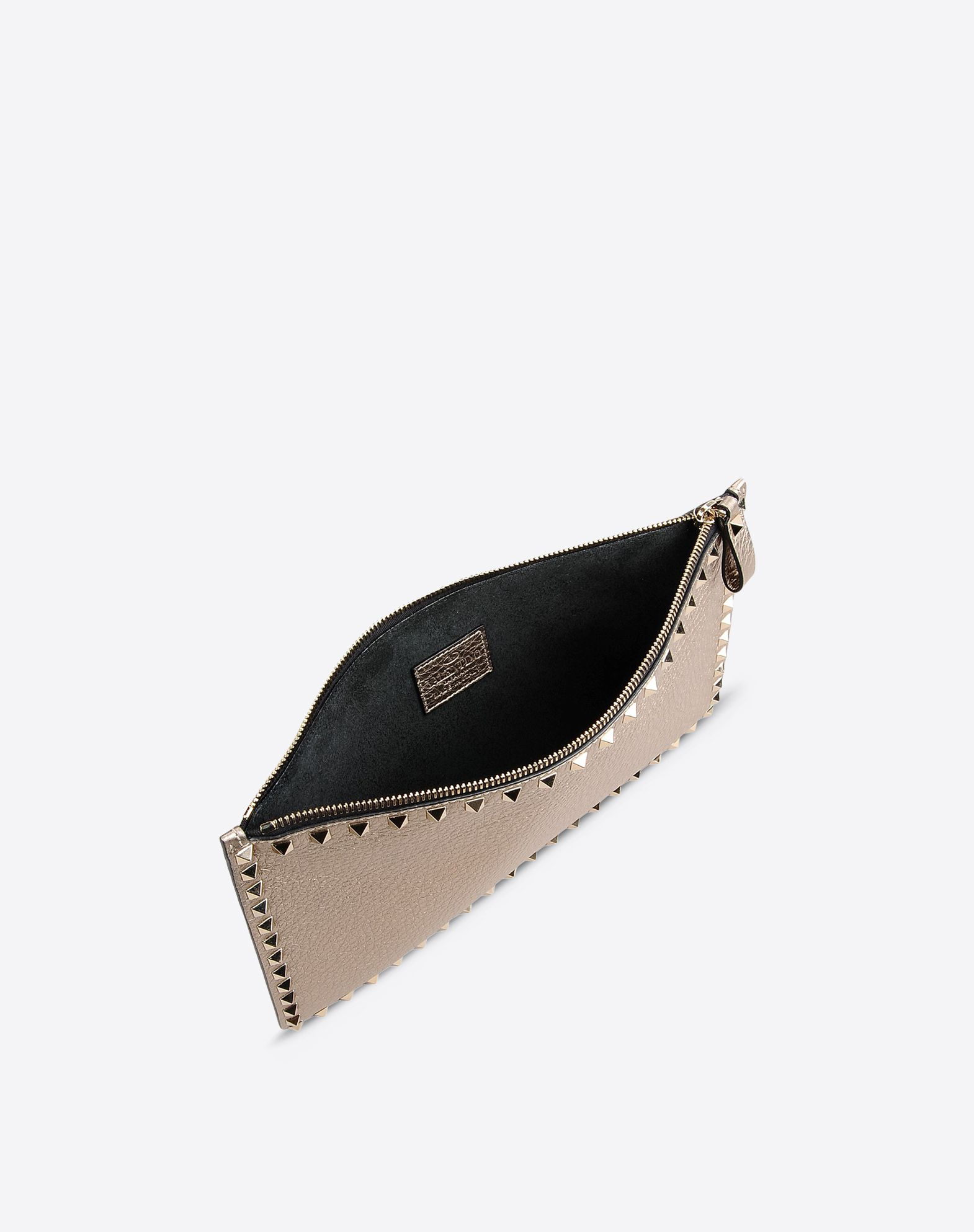 VALENTINO Studs Laminated effect Zip closure  46441809vs