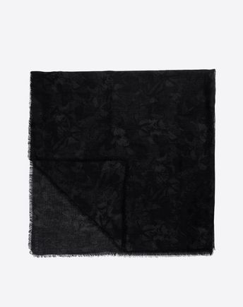 VALENTINO カムバタフライ プリントスカーフ 140×140  46443301GW