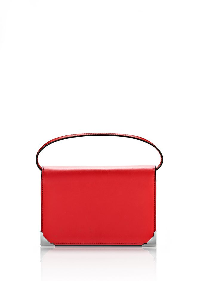 ALEXANDER WANG SMALL LEATHER GOODS PRISMA BIKER PURSE IN CULT WITH RHODIUM