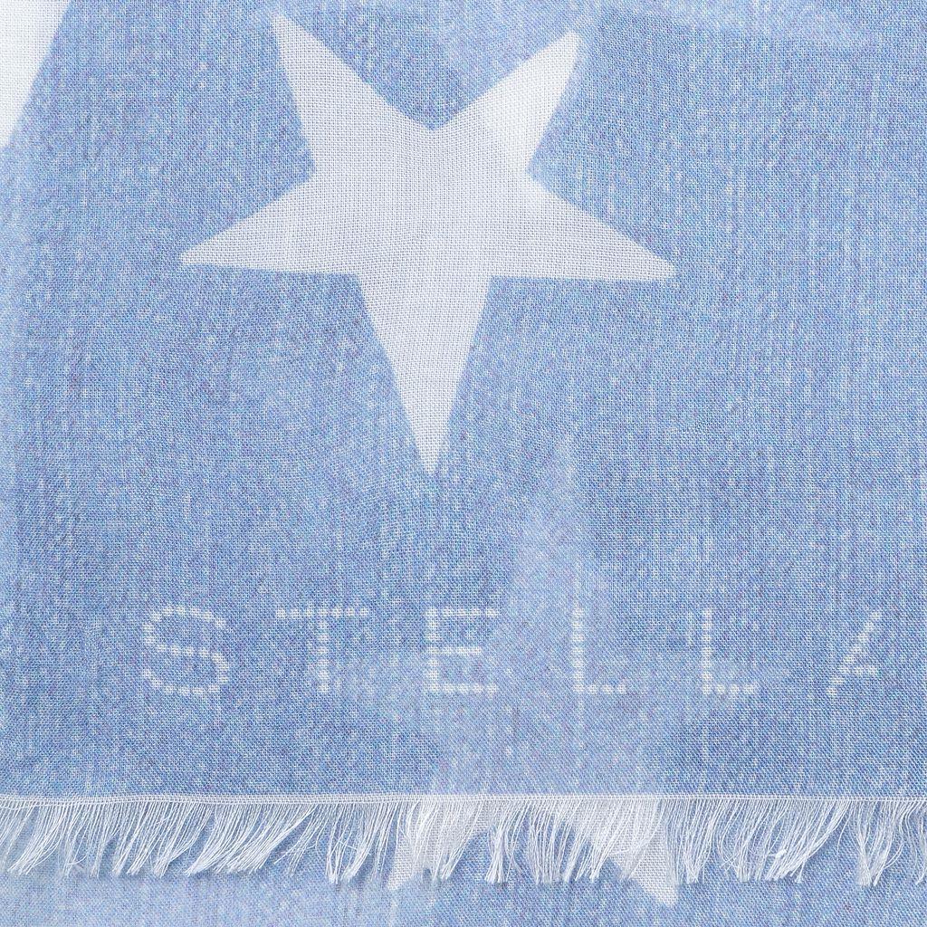 Sky Blue Star Scarf - STELLA MCCARTNEY