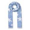 STELLA McCARTNEY Sky Blue Star Scarf Scarf D f