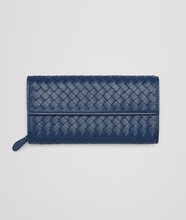 BOTTEGA VENETA CONTINENTAL WALLET IN PACIFIC INTRECCIATO NAPPA Continental Wallet Woman fp