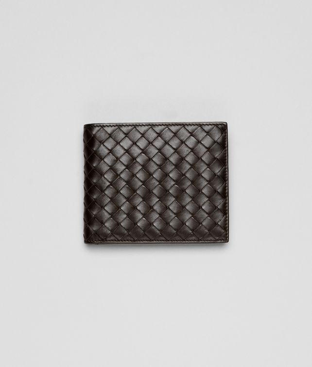 BOTTEGA VENETA BI-FOLD WALLET WITH ID WINDOW IN ESPRESSO INTRECCIATO VN Bi-fold Wallet Man fp