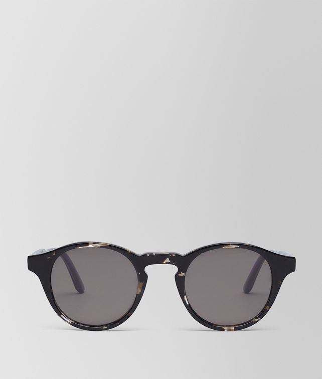 BOTTEGA VENETA SUNGLASSES IN GREY HAVANA ACETATE WITH GREY LENS Sunglasses E fp