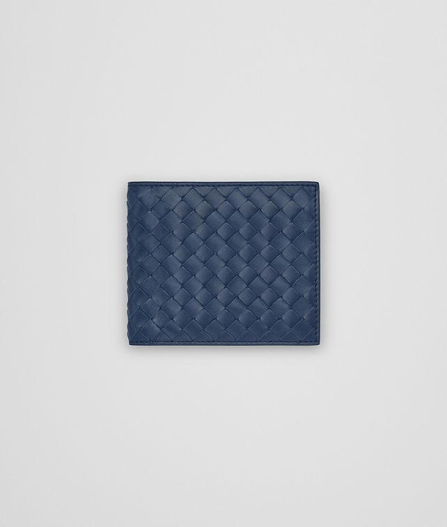 BOTTEGA VENETA BI-FOLD WALLET WITH COIN PURSE IN PACIFIC INTRECCIATO VN Bi-fold Wallet Man fp