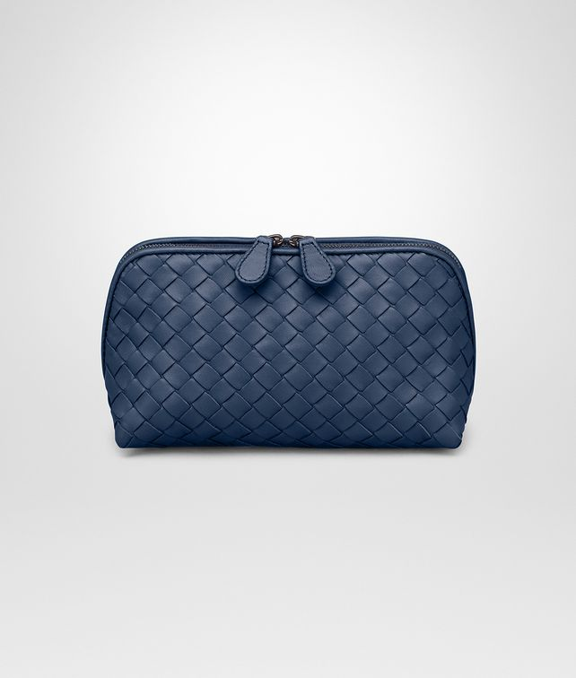 BOTTEGA VENETA MEDIUM COSMETIC CASE IN PACIFIC INTRECCIATO NAPPA Other Leather Accessory Woman fp