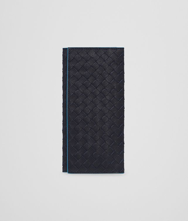 BOTTEGA VENETA CONTINENTAL WALLET IN NEW DARK NAVY PEACOCK INTRECCIATO CALF Continental Wallet U fp