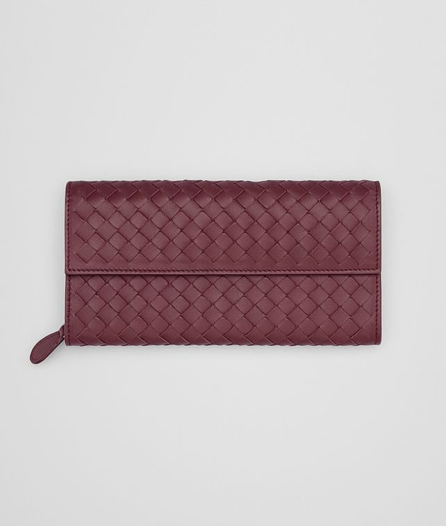 BOTTEGA VENETA CONTINENTAL WALLET IN BAROLO INTRECCIATO NAPPA Continental Wallet Woman fp