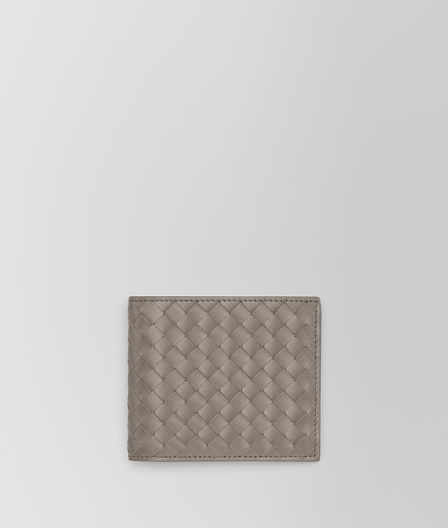 BOTTEGA VENETA BI-FOLD WALLET IN STEEL INTRECCIATO VN Bi-fold Wallet Man fp