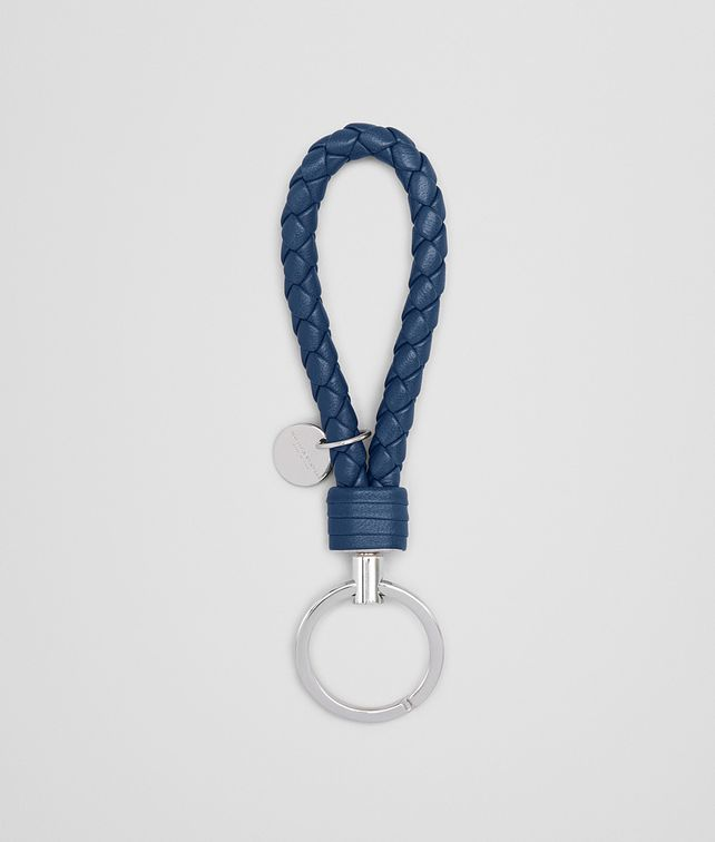 BOTTEGA VENETA KEY RING IN PACIFIC INTRECCIATO NAPPA Keyring or Bracelets E fp