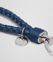 BOTTEGA VENETA KEY RING IN PACIFIC INTRECCIATO NAPPA Keyring or Bracelets E ap