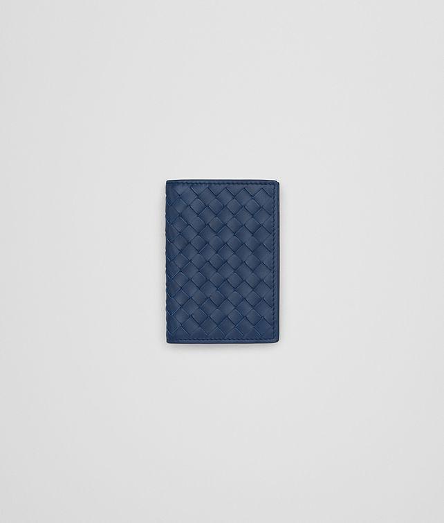 BOTTEGA VENETA CARD CASE IN PACIFIC INTRECCIATO VN Card Case or Coin Purse Man fp