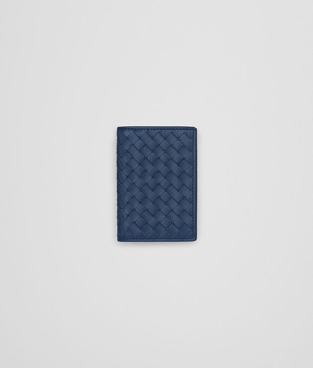 BOTTEGA VENETA CARD CASE IN PACIFIC INTRECCIATO VN Card Case or Coin Purse U fp