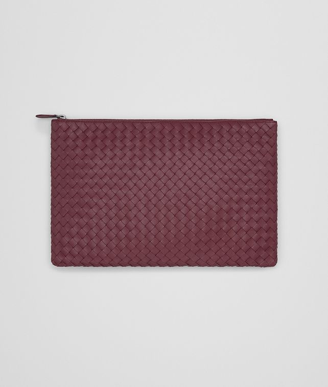 BOTTEGA VENETA LARGE DOCUMENT CASE IN BAROLO INTRECCIATO NAPPA Other Leather Accessory E fp