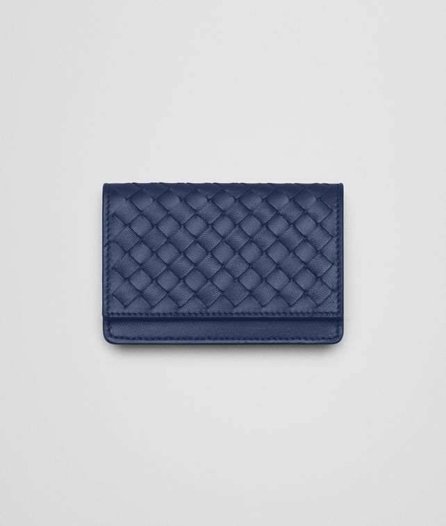 BOTTEGA VENETA CARD CASE IN PACIFIC INTRECCIATO NAPPA Card Case or Coin Purse E fp