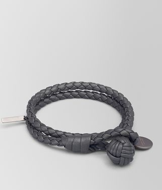 BRACELET EN INTRECCIATO NAPPA NEW LIGHT GREY