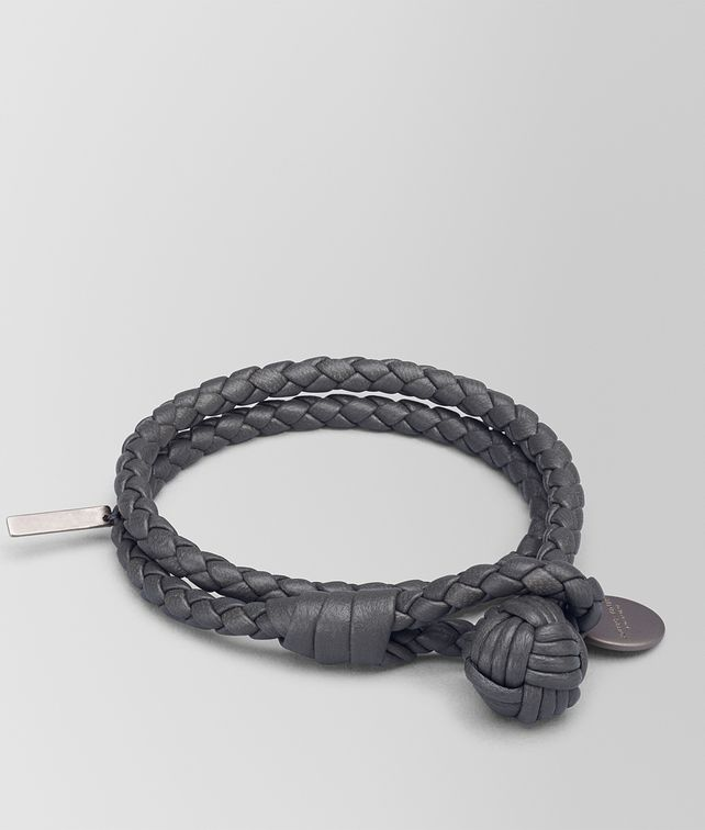 woven leather bracelet pandora moments image grey double