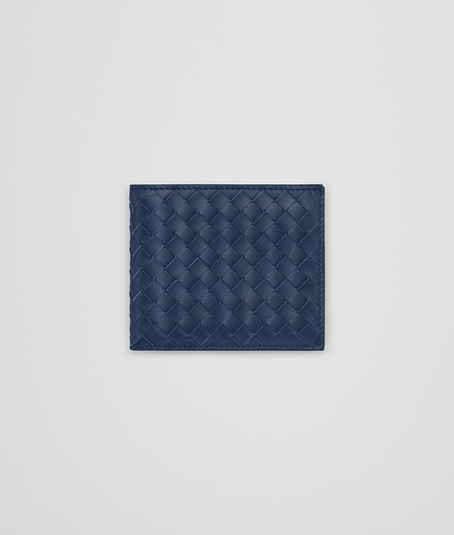 BOTTEGA VENETA BI-FOLD WALLET IN PACIFIC INTRECCIATO VN Bi-fold Wallet Man fp
