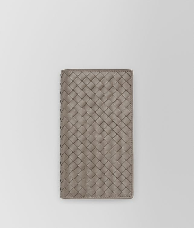 BOTTEGA VENETA CONTINENTAL WALLET IN STEEL INTRECCIATO VN Continental Wallet Man fp