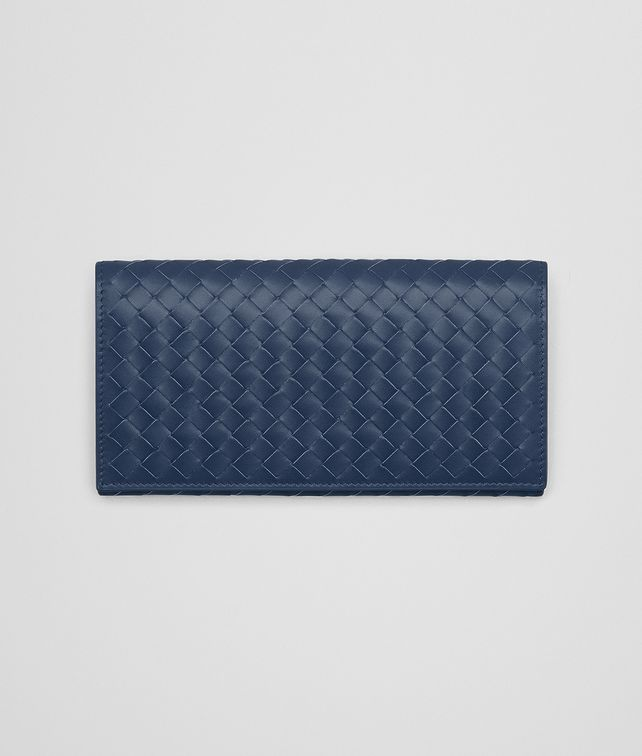 BOTTEGA VENETA CONTINENTAL WALLET IN PACIFIC INTRECCIATO VN Continental Wallet Man fp