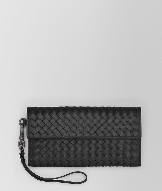 BOTTEGA VENETA CONTINENTAL WALLET IN NERO INTRECCIATO NAPPA Continental Wallet Woman fp