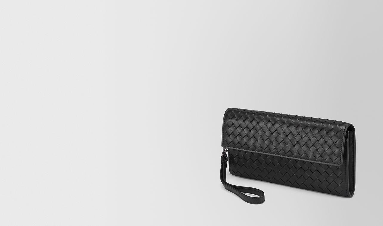 continental wallet in nero intrecciato nappa landing
