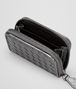 BOTTEGA VENETA COIN PURSE IN SILVER INTRECCIATO GROS GRAIN Mini Wallet or Coin Purse D ap