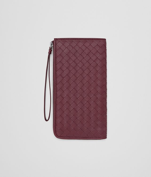 BOTTEGA VENETA ZIP AROUND WALLET IN BAROLO INTRECCIATO NAPPA Zip Around Wallet Woman fp