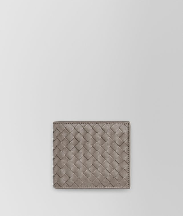 BOTTEGA VENETA BI-FOLD WALLET WITH COIN PURSE IN STEEL INTRECCIATO VN Bi-fold Wallet Man fp