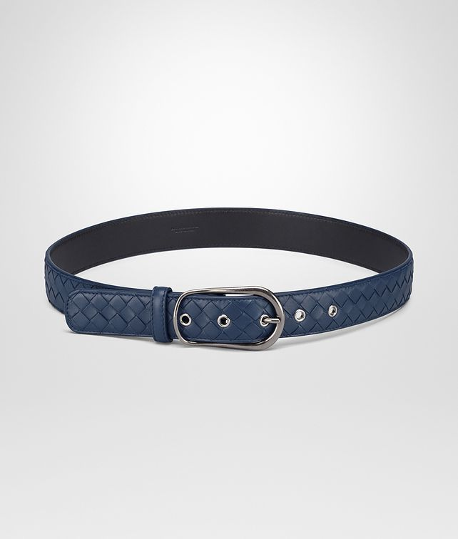 BOTTEGA VENETA BELT IN PACIFIC INTRECCIATO NAPPA Belt Woman fp