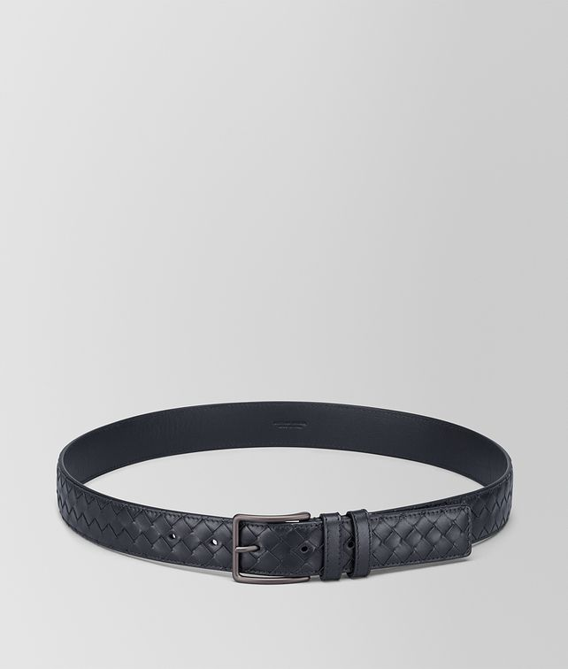 BOTTEGA VENETA BELT IN LIGHT TOURMALINE INTRECCIATO VN Belt Man fp