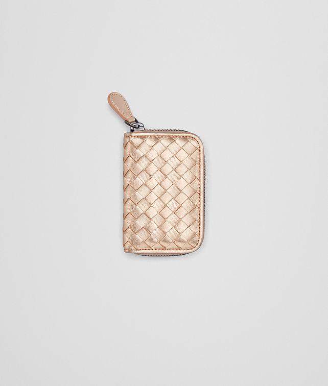 af98c4863cd0 BOTTEGA VENETA COIN PURSE IN ROSE GOLD INTRECCIATO GROS GRAIN Small Wallet