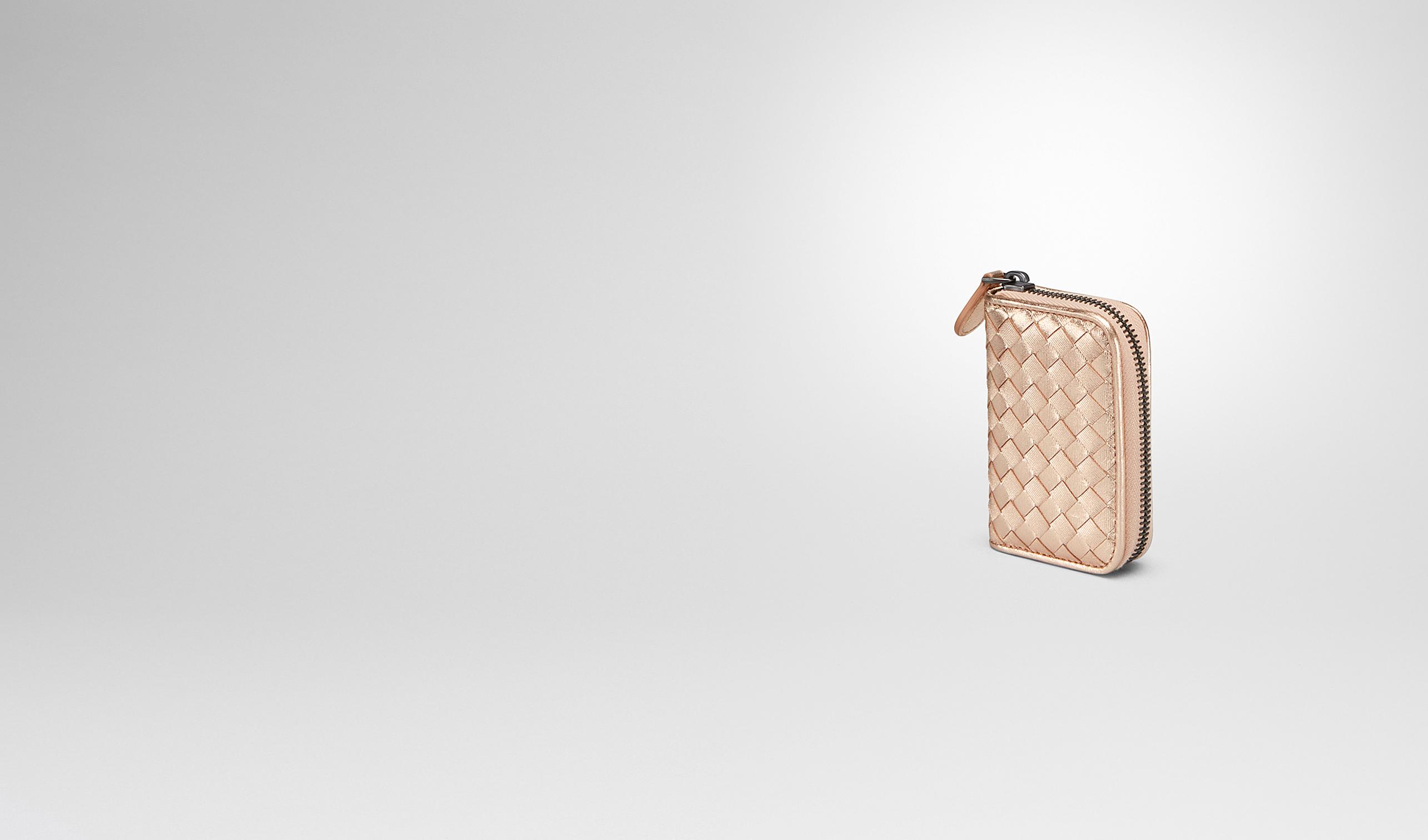 ac38616dc01a  Bottega Veneta® - COIN PURSE IN ROSE GOLD INTRECCIATO GROS GRAIN 