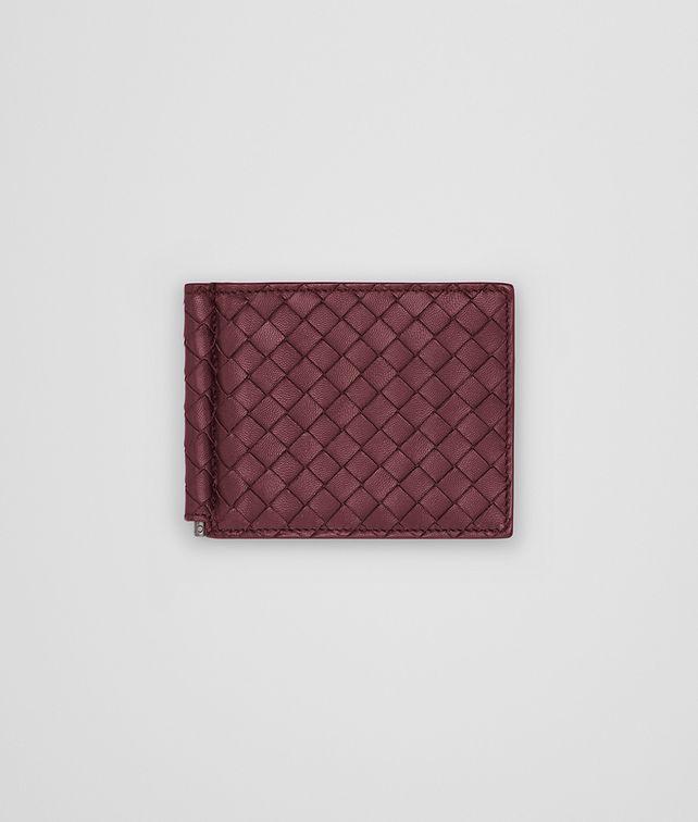 BOTTEGA VENETA BI-FOLD WALLET WITH MONEY CLIP IN BAROLO NERO INTRECCIATO NAPPA Bi-fold Wallet U fp