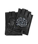 KARL LAGERFELD K/GEO STONES FINGERLESS GLOVES  8_f