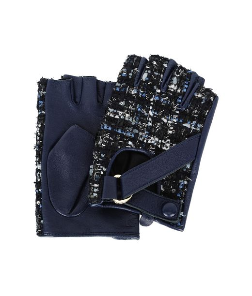 KARL LAGERFELD K/TWEED FINGERLESS GLOVES 12_f