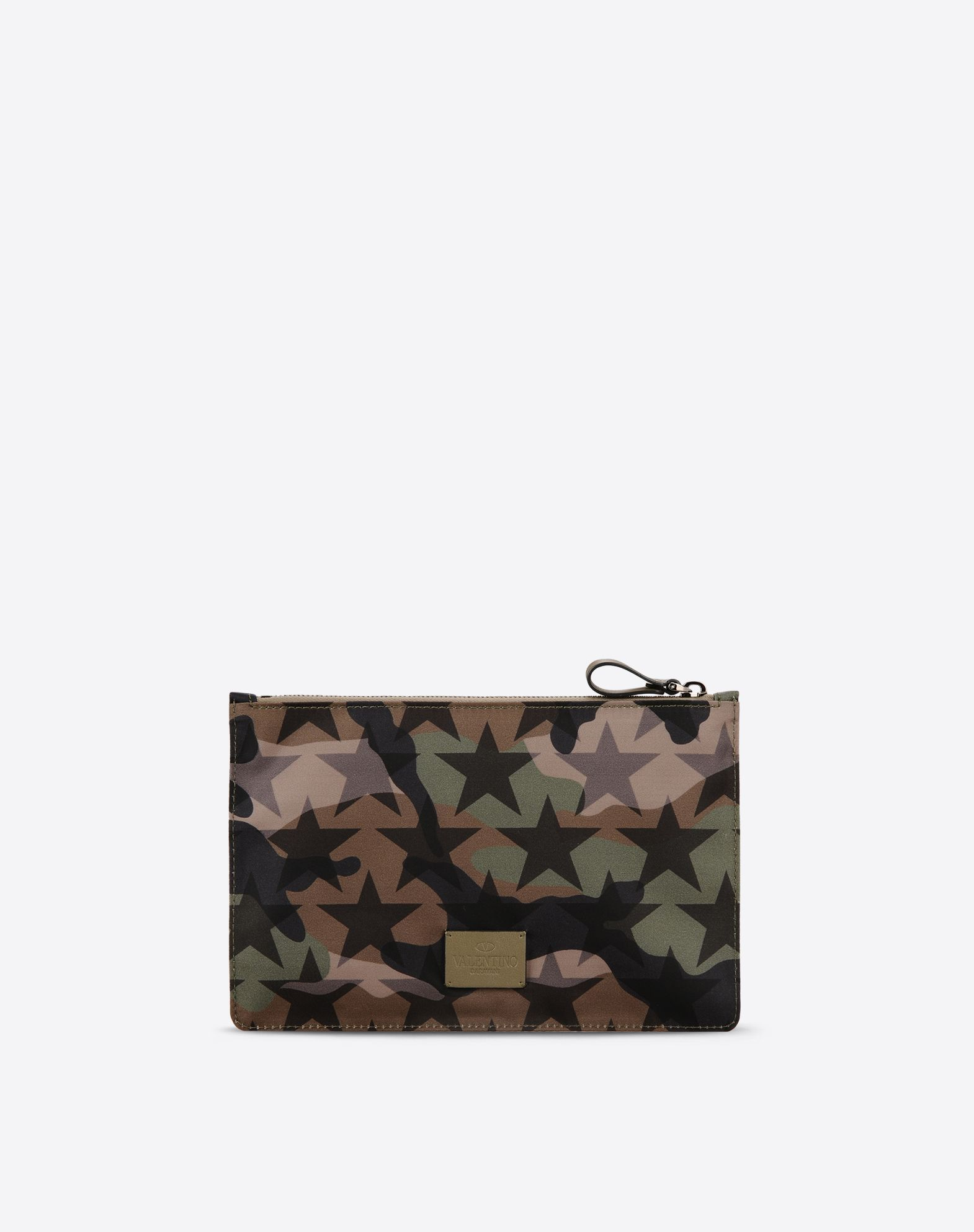 VALENTINO Techno fabric Camouflage design Internal pocket Zip closure  46459693tl