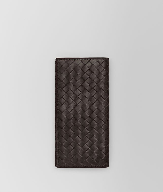 BOTTEGA VENETA CONTINENTAL WALLET IN ESPRESSO INTRECCIATO VN Large Wallet Man fp