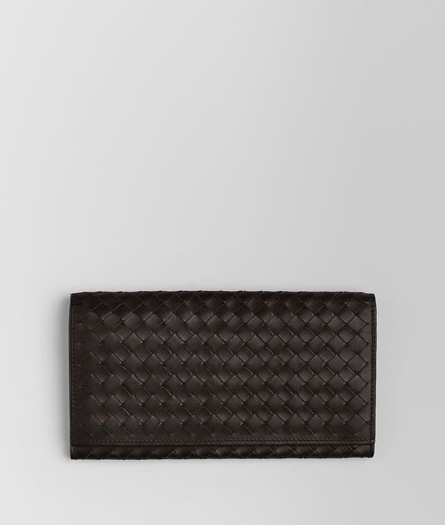 BOTTEGA VENETA CONTINENTAL WALLET IN ESPRESSO INTRECCIATO VN Continental Wallet Man fp