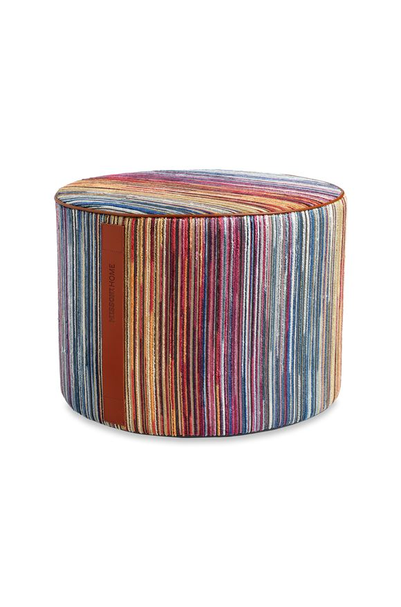 MISSONI HOME SANTIAGO CYLINDER POUF E, Frontal view