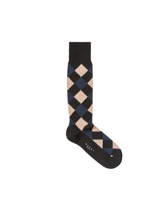Marni Socks in cotton-and-nylon lamè jacquard Dynamo pattern Woman - 1