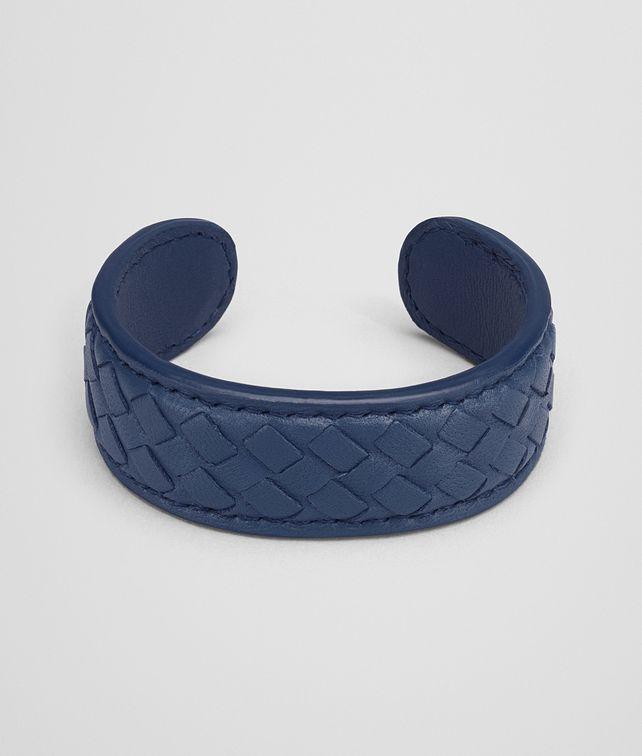 BOTTEGA VENETA BRACELET IN PACIFIC MICROINTRECCIATO NAPPA Keyring or Bracelets Woman fp