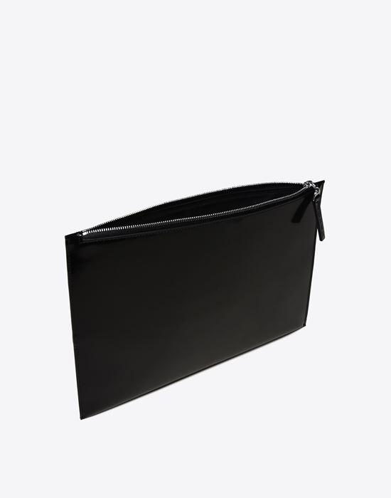 MAISON MARGIELA 11 Asymmetric calfskin pouch Clutch U d