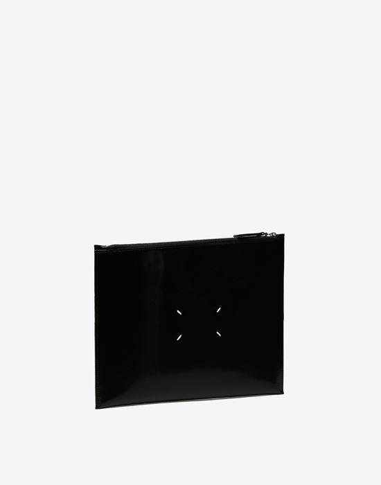 MAISON MARGIELA 11 Asymmetric calfskin pouch Clutch [*** pickupInStoreShippingNotGuaranteed_info ***] r