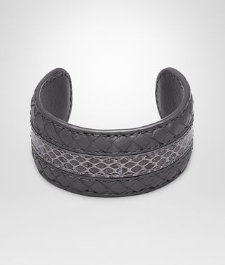 BRACCIALE IN MICROINTRECCIATO NAPPA NEW LIGHT GREY AYERS