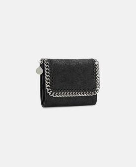 Black Falabella Small Flap Wallet