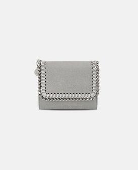Light Grey Falabella Small Flap Wallet