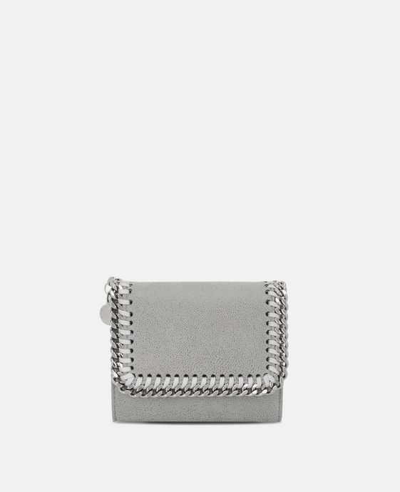 Light Grey Falabella Small Flap Wallet